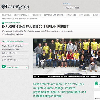 EarthWatch's Urban Forest Expedition